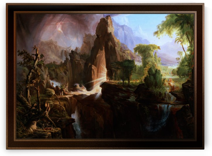 Expulsion from the Garden of Eden by Thomas Cole by xzendor7