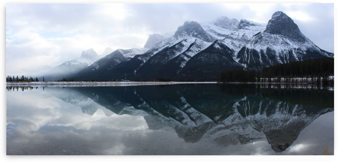 Canmore Winter Mountain Panorama by Jackson Brown