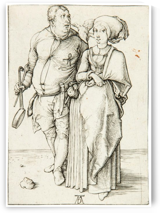 A cook and his wife by Albrecht Durer