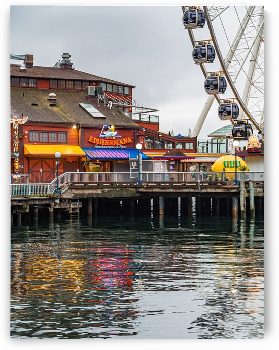 Fishermans Restaurant and Great Wheel by Darryl Brooks