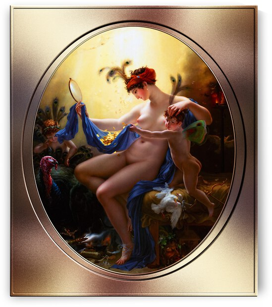 Portrait of Mlle. Lange as Danae by Anne-Louis Girodet de Roussy-Trioson by xzendor7