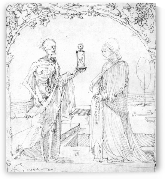 Death and wife by Albrecht Durer