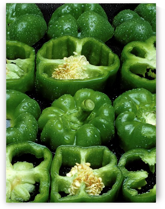 Green Peppers by Ian Barr