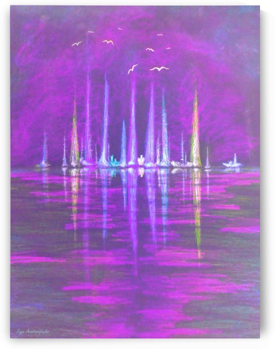 Nautical Dreams In Violet by Faye Anastasopoulou