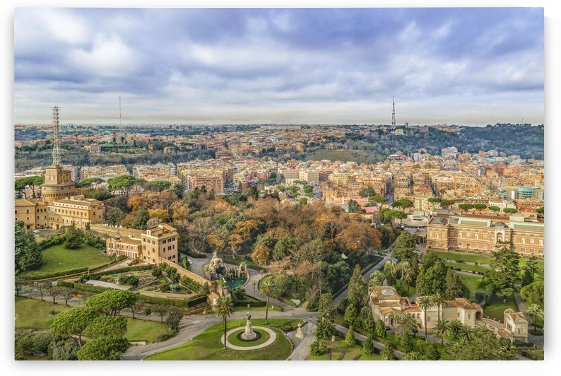 Vatican Gardens Aerial View, Rome, Italy by Daniel Ferreia Leites Ciccarino