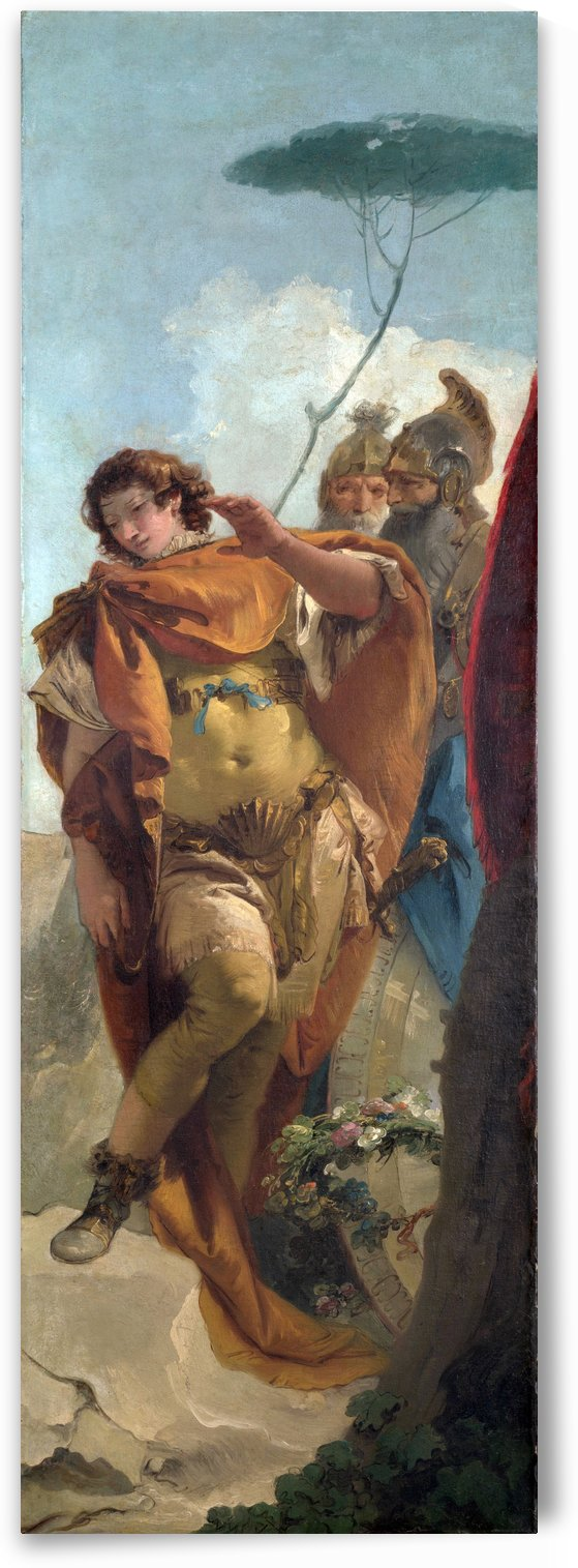 Rinaldo turning in Shame from the Magic Shield by Giovanni Battista Tiepolo