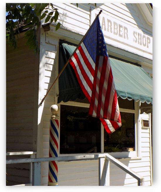 Patriotic Barber Shop by Castle Green Enterprises
