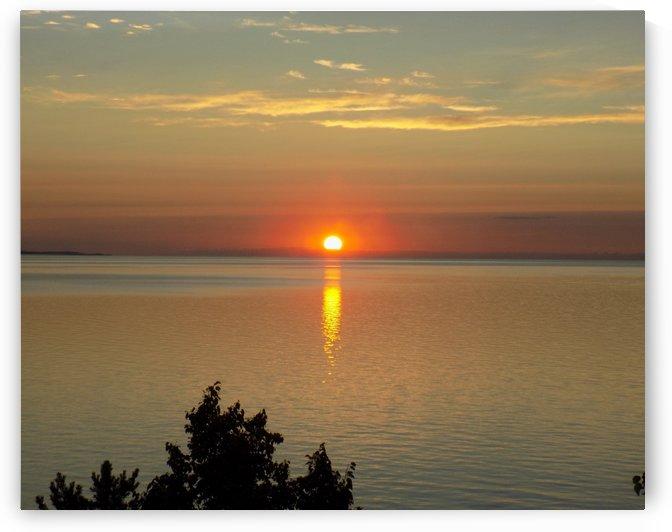 Orange Sunset Horizontal by Castle Green Enterprises
