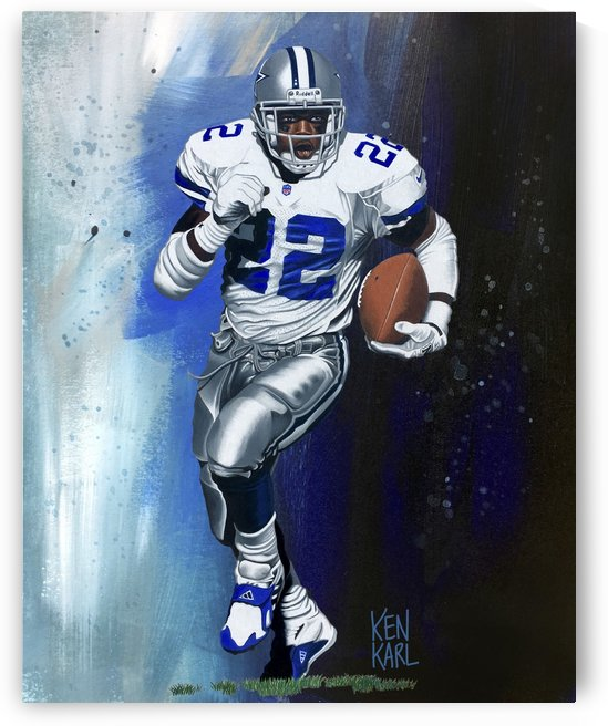Emmitt Smith by Football Art