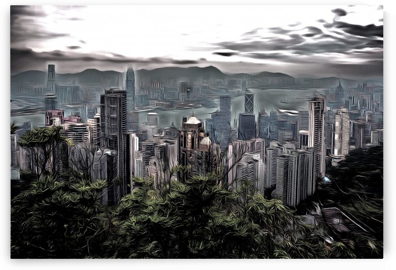 Dark Clouds Over Hong Kong by Robert Knight