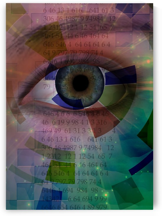 Eye with Numerical Sequence by Bruce Rolff