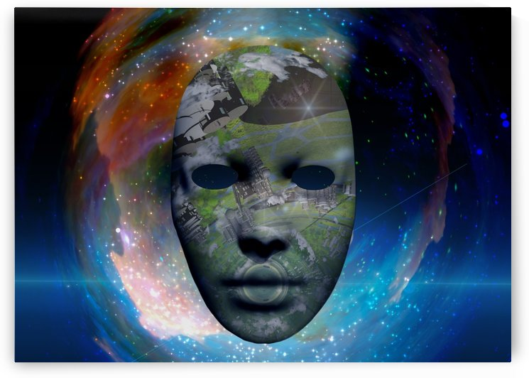 Mask in Space by Bruce Rolff