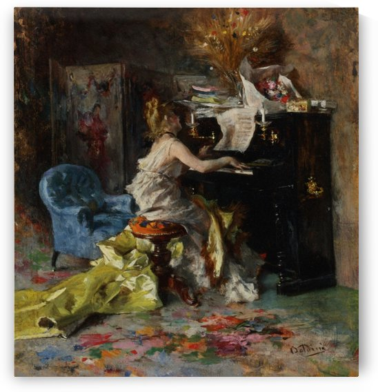 Woman by the Piano by Giovanni Boldini