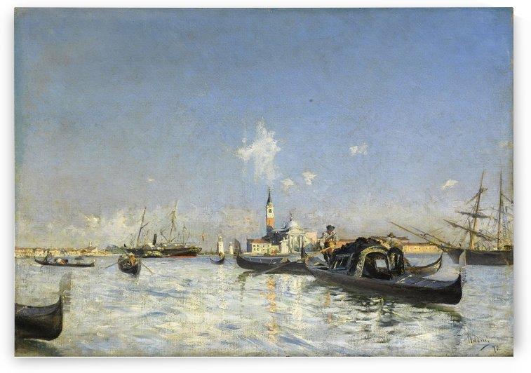 The Island of San Giorgio in Venice by Giovanni Boldini