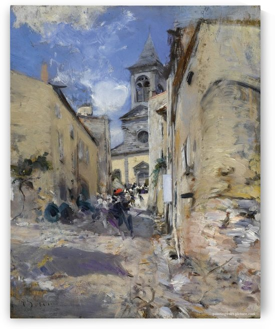 The Church of Paese by Giovanni Boldini