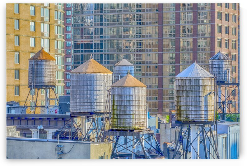 Water Towers in New York City by Kaye