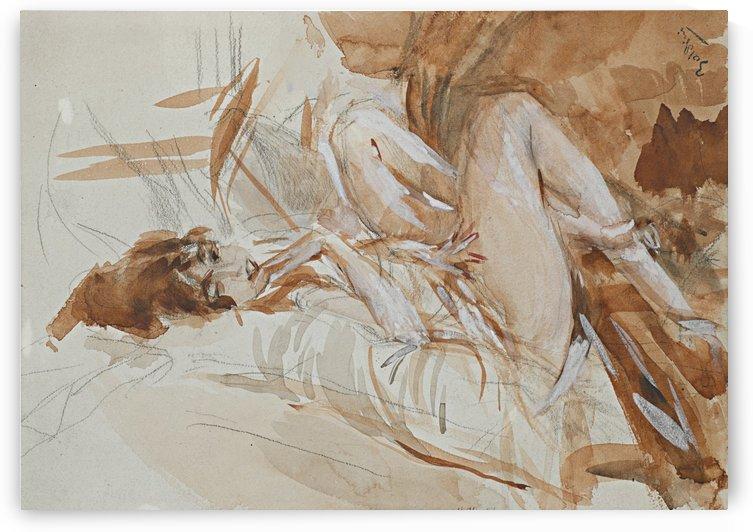 Reclining Lady by Giovanni Boldini