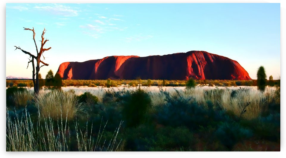 Uluru at Dawn - 2 by Lexa Harpell