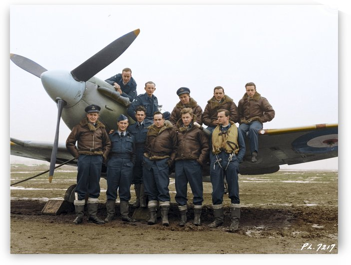 Members of 403 Squadron RCAF February 12 1942 by Canadian Colour