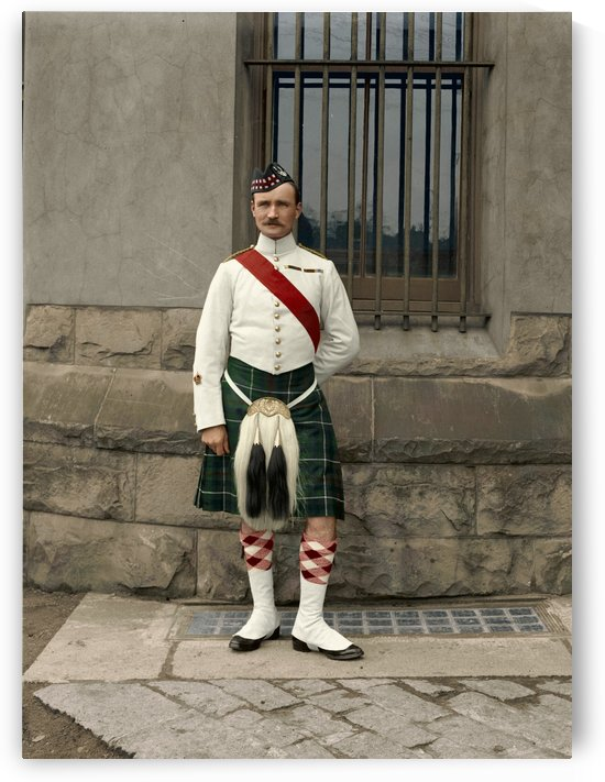 RSM David Nelson 72nd Regt. Seaforth Highlanders of Canada c.1913 by Canadian Colour