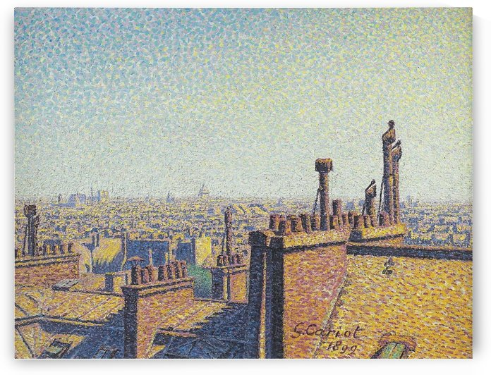 The Roofs of Paris by Gustave Cariot