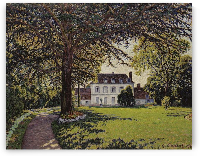 The Park of Chateau at Perigny by Gustave Cariot