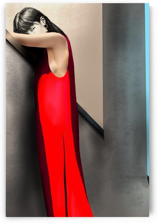 lady in red by Evgeniya Abramova