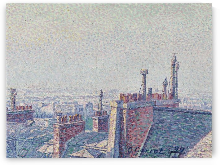 The Roofs of Paris, Afternoon by Gustave Cariot