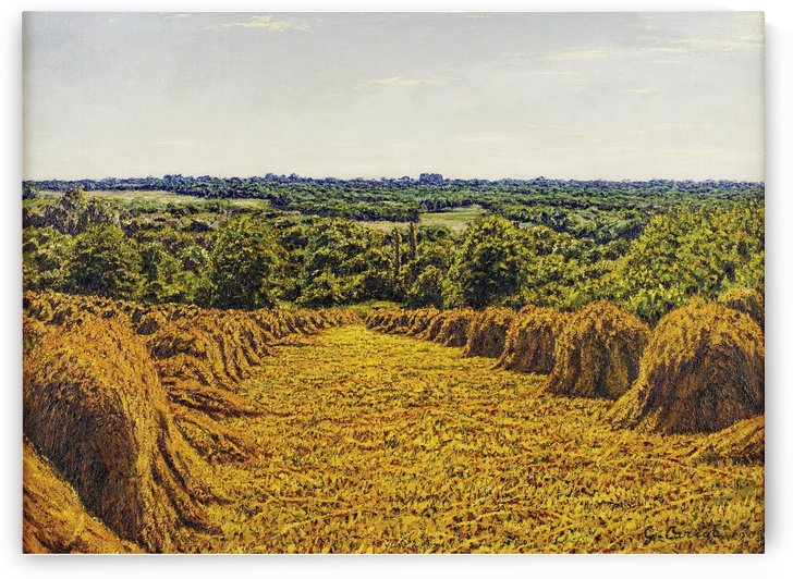 The Fields of Wheat by Gustave Cariot