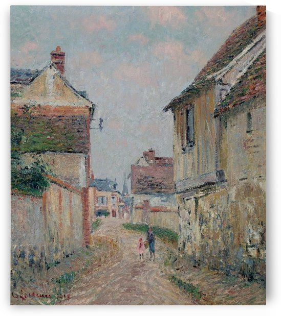 Mother and Child on the Street at Pontoise by Gustave Loiseau