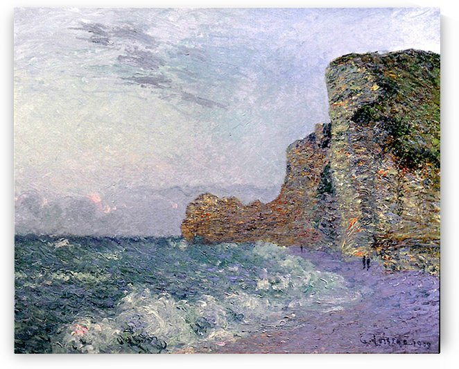 The Cliffs in Normandie by Gustave Loiseau