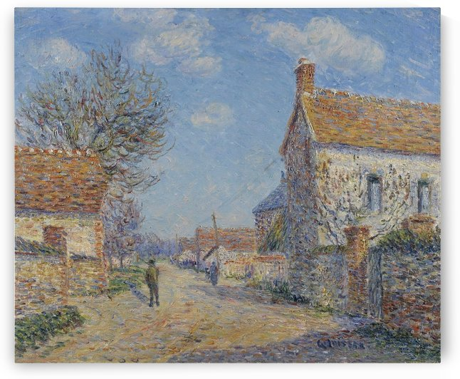 The Street of Saint-Cyr, the Sun by Gustave Loiseau