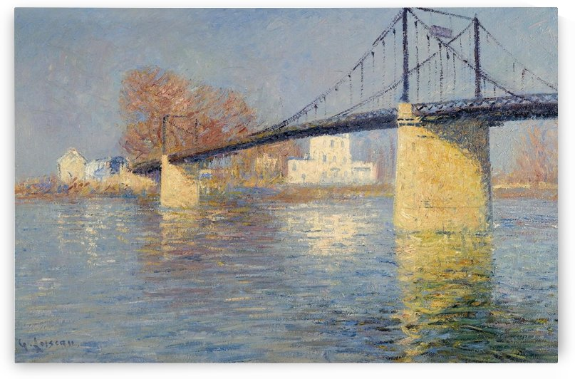 Suspended Bridge at Triel-sur-Seine by Gustave Loiseau