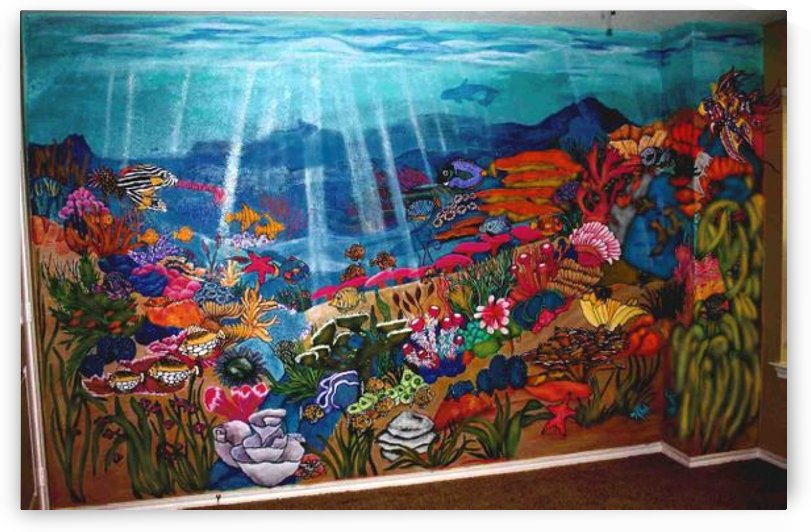 12x12 Underwater Mural by Danny Less