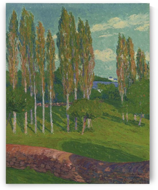 Poplars in Spring by Gustave Loiseau