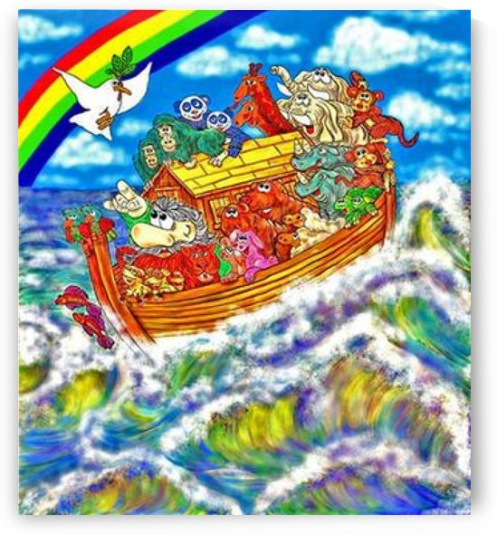 Noahs Ark on the sea by Danny Less