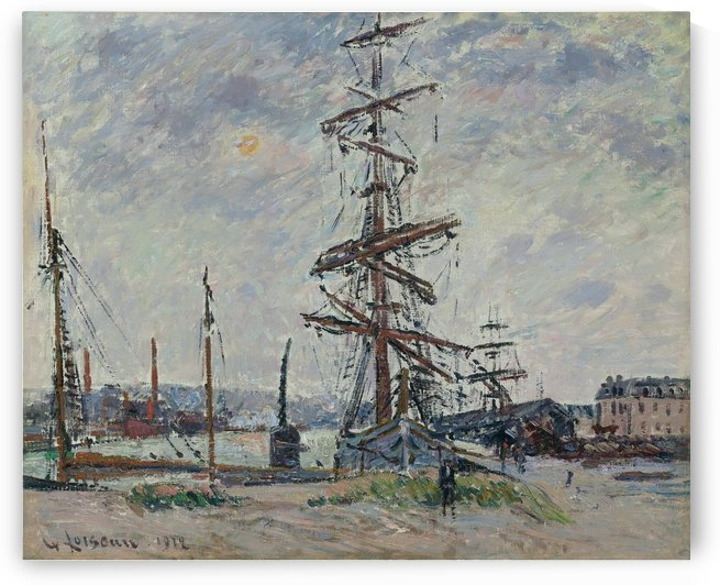 Vessels in Port by Gustave Loiseau