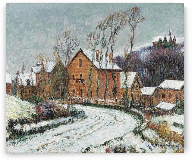 Winter Landscape at Chaponval by Gustave Loiseau