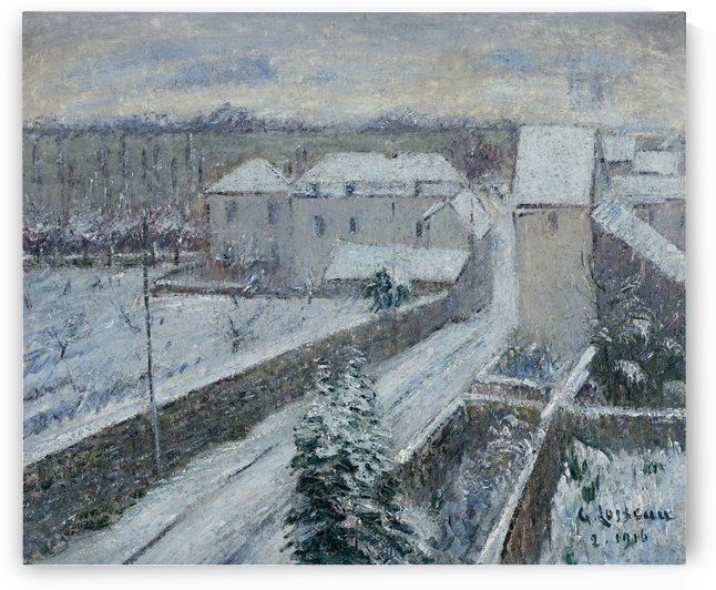 View of Triel under the Snow by Gustave Loiseau