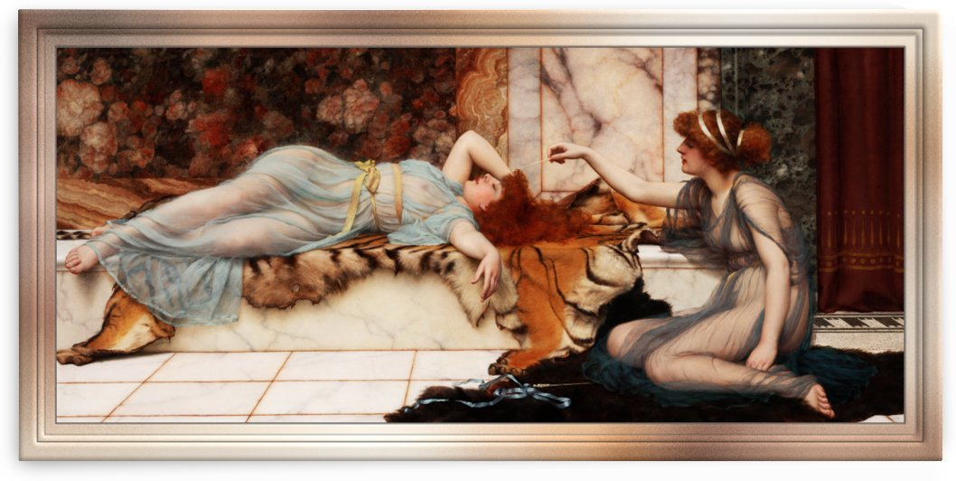 Mischief and Repose by John William Godward by xzendor7