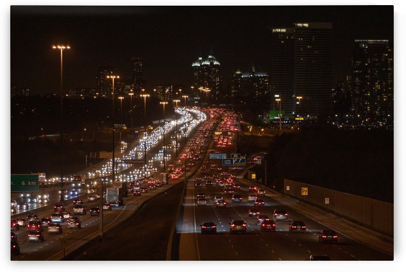Busy road at night by Ola Photography