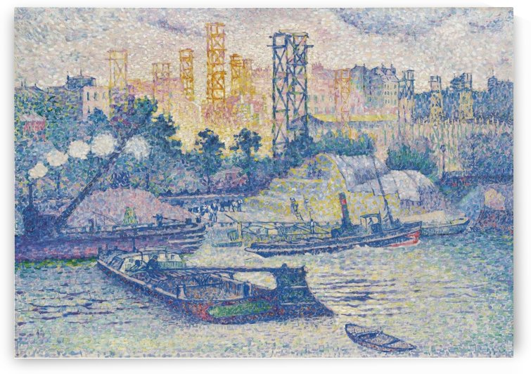 The Quay of Passy by Henri Edmond Cross