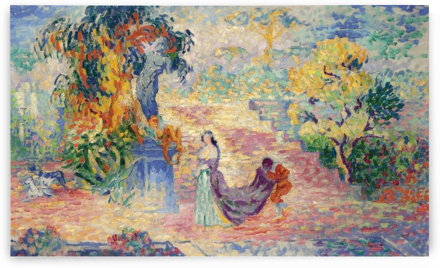 Lady at the Park by Henri Edmond Cross
