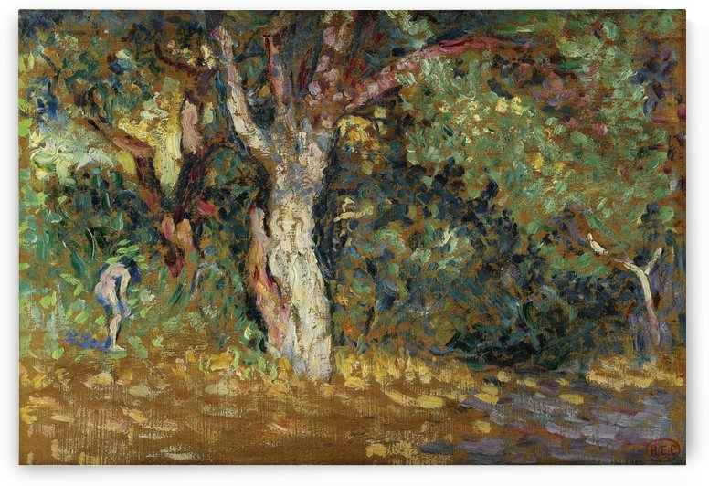 Thicket with Female Nude (study) by Henri Edmond Cross