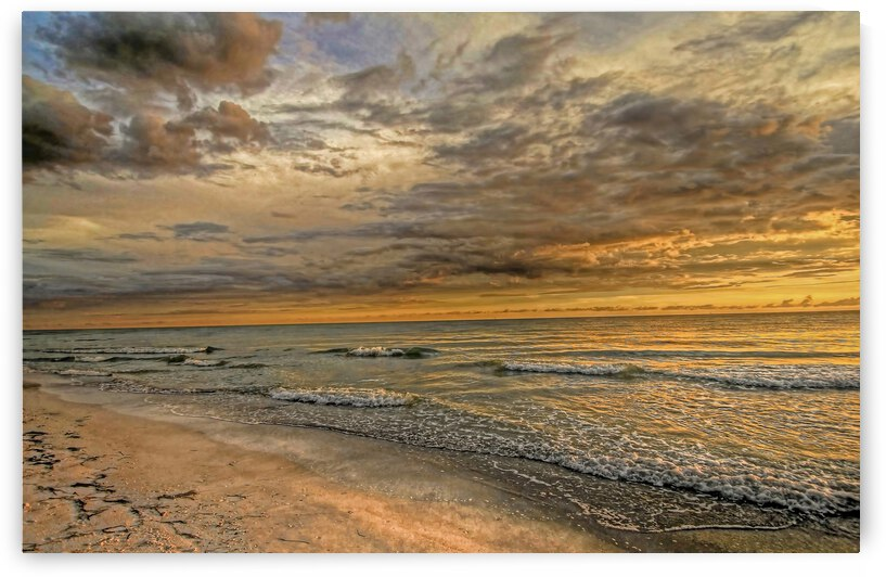 Golden Glow 2-Clouds by HH Photography of Florida