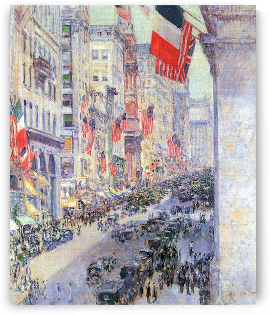 The avenue along 34th Street, May 1917 by Hassam by Hassam