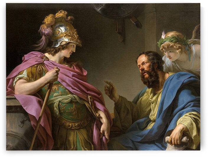 Alcibades being taught by Socrates by Francois-Andre Vincent by xzendor7
