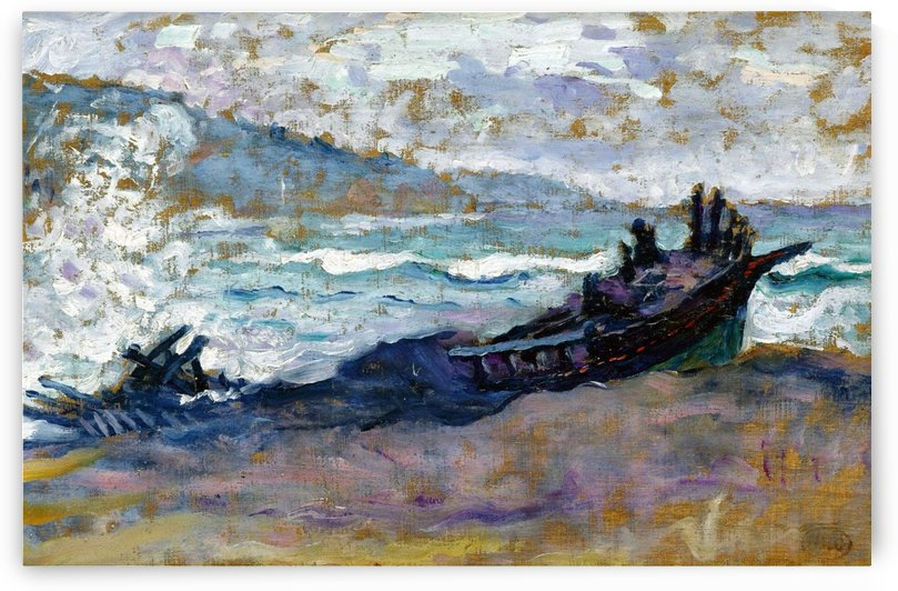 Old Boat on the Sand by Henri Edmond Cross