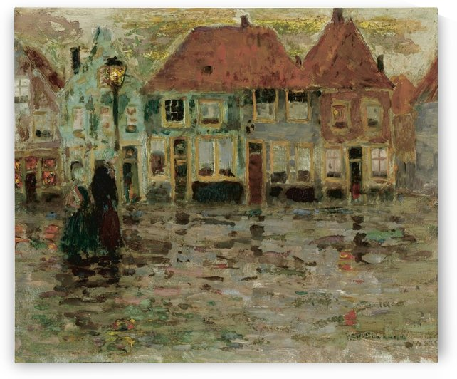 The Square of Ecluse, Sluis by Henri Le Sidaner