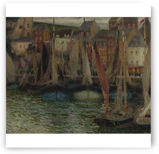 Boats at Treport by Henri Le Sidaner